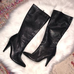 Saks 5th Ave Knee High Heeled Boots